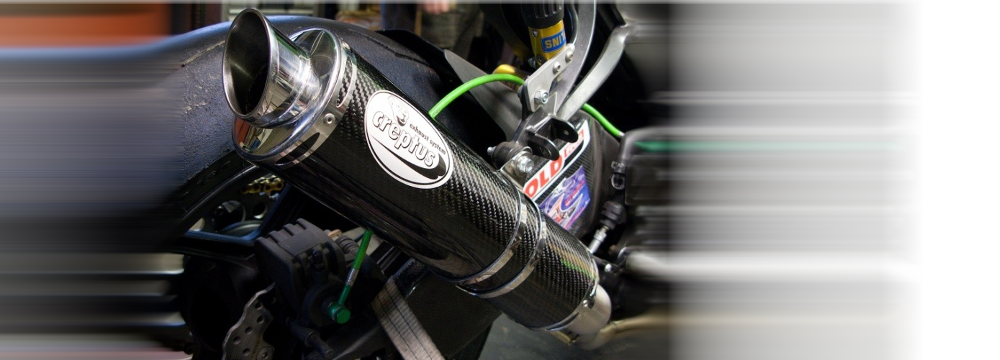GP style exhausts for fast ride